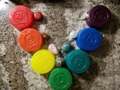 7 Chakras Crystal Infused Body Bar (Stones pictures not included)- $40